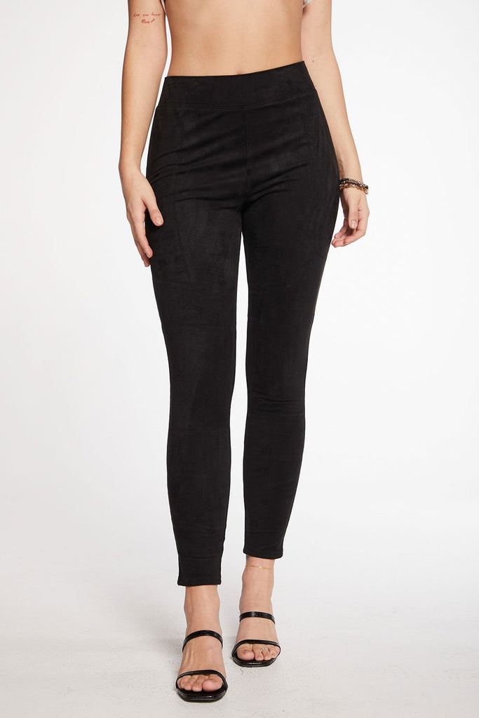 Chaser Stretch Faux Suede Leggings (hide)