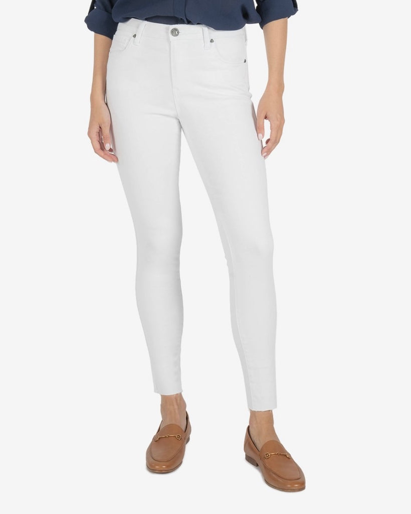 KUT Connie High Rise Skinny- Optic Wash