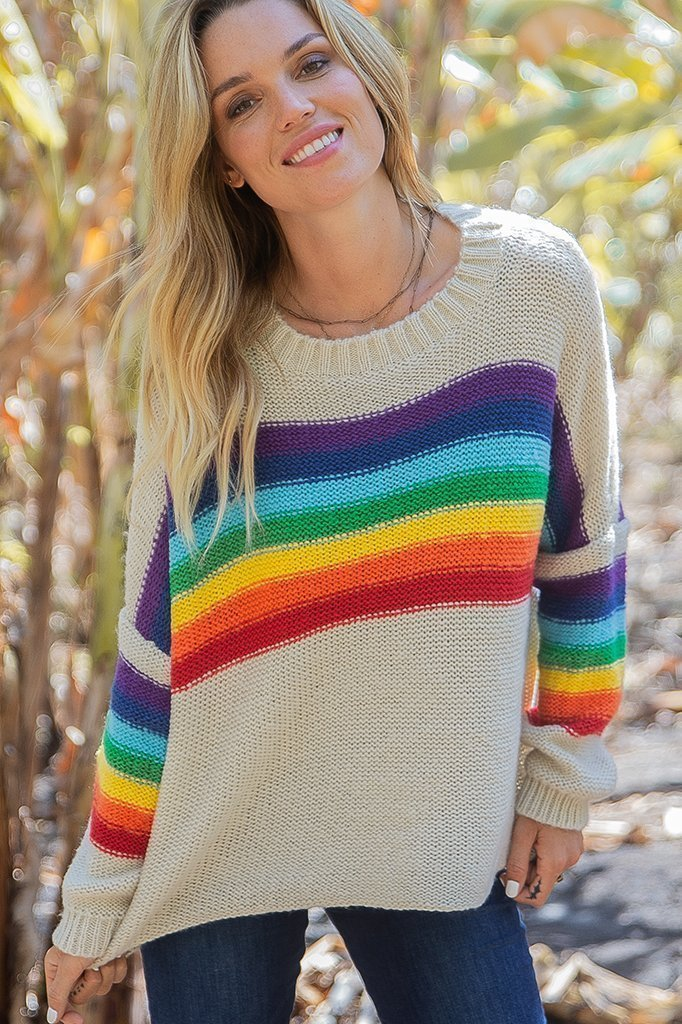 Wooden Ships Rainbow Crew Neck (hide)