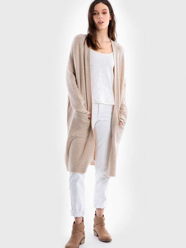 525 America Cashmere Open Front Coatigan (hide)