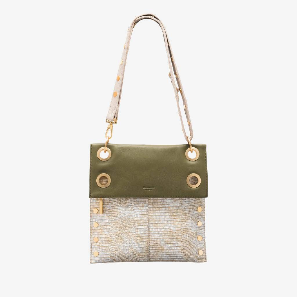 Hammitt Montana Rev Sandstone/MossP Brushed Gold Cross Body