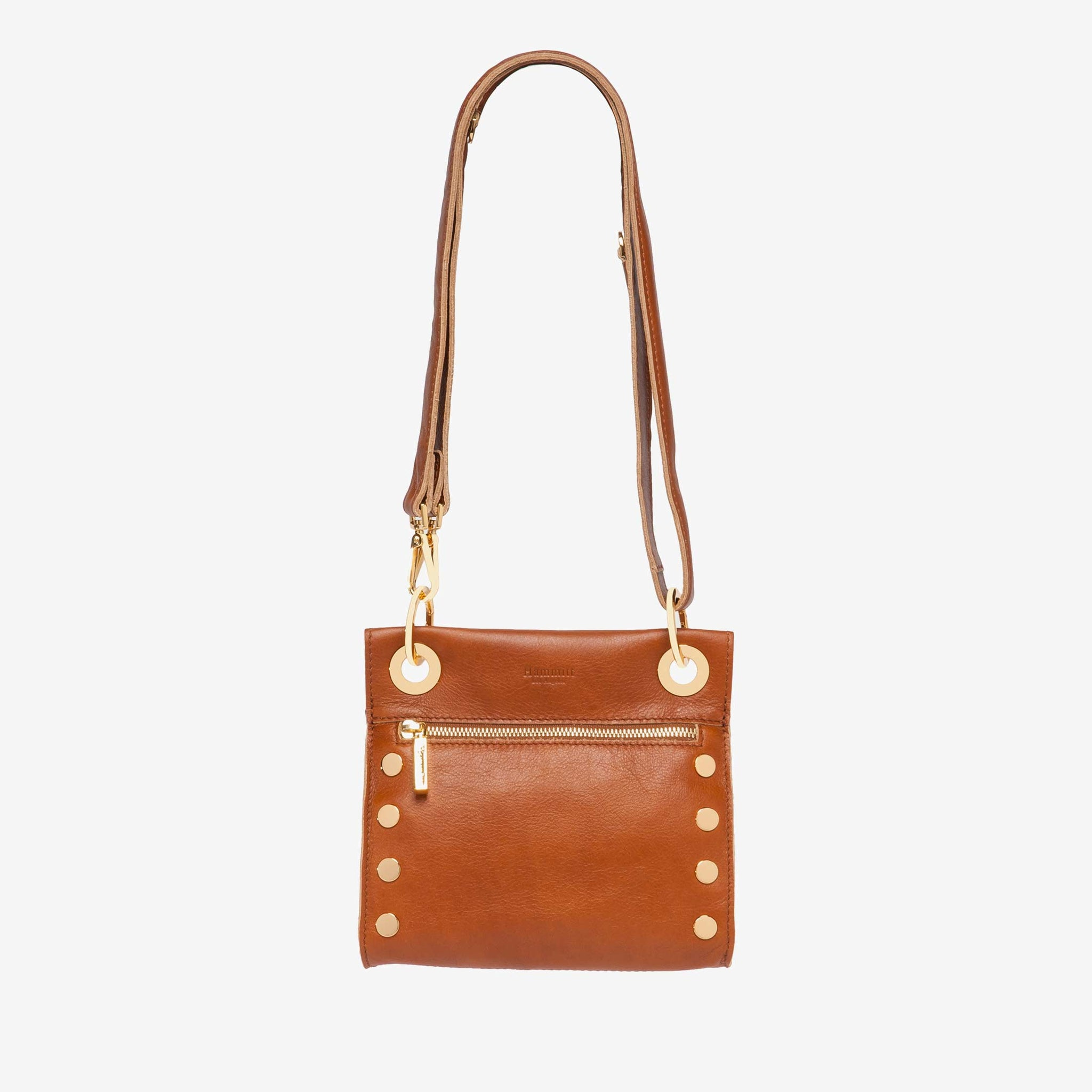 Hammitt Tony Cognac Brushed Gold Cross Body