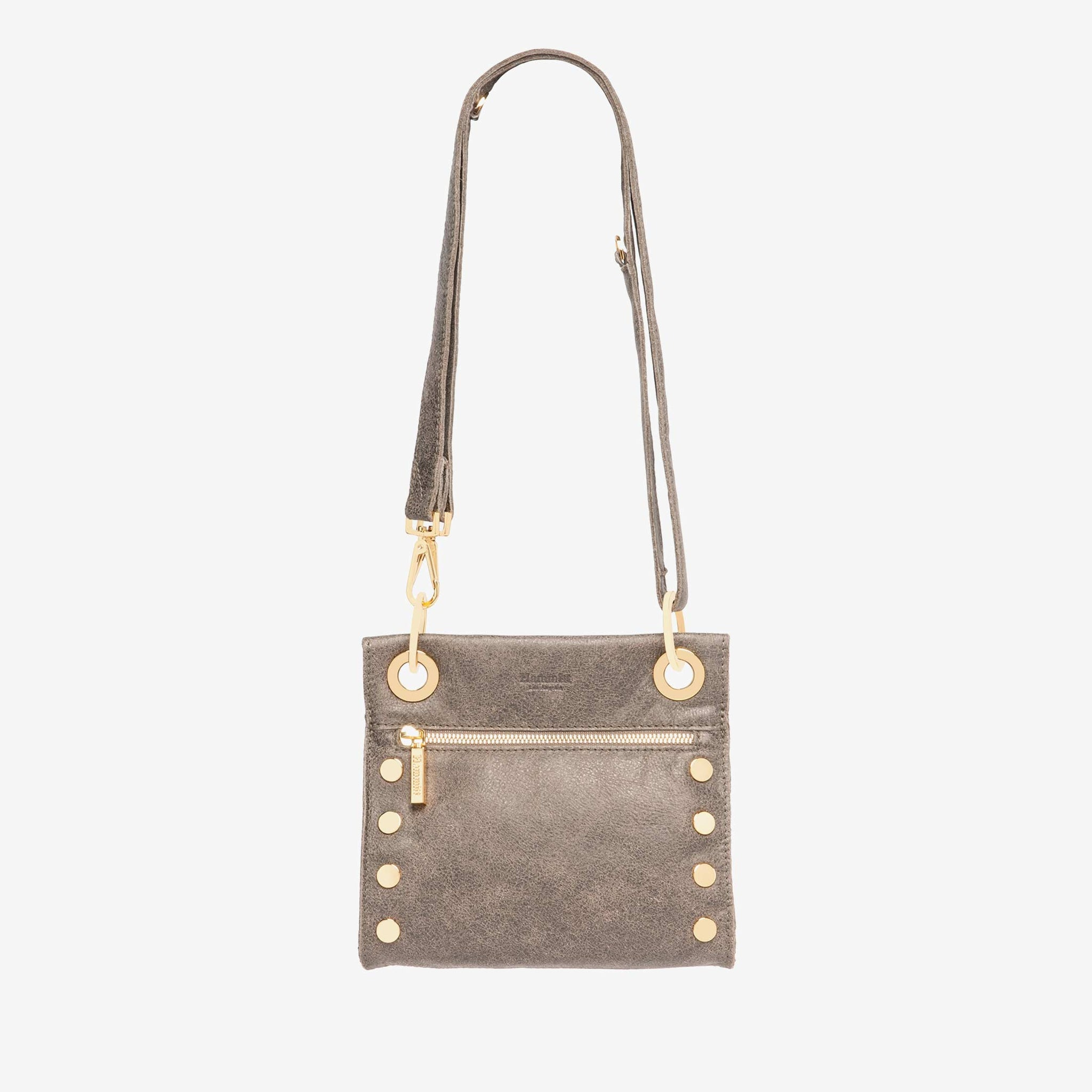 Hammitt Tony Pewter Brushed Gold Cross Body