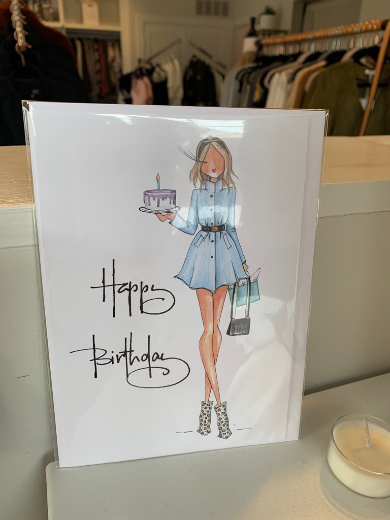 Birthday Greeting Card- Blonde