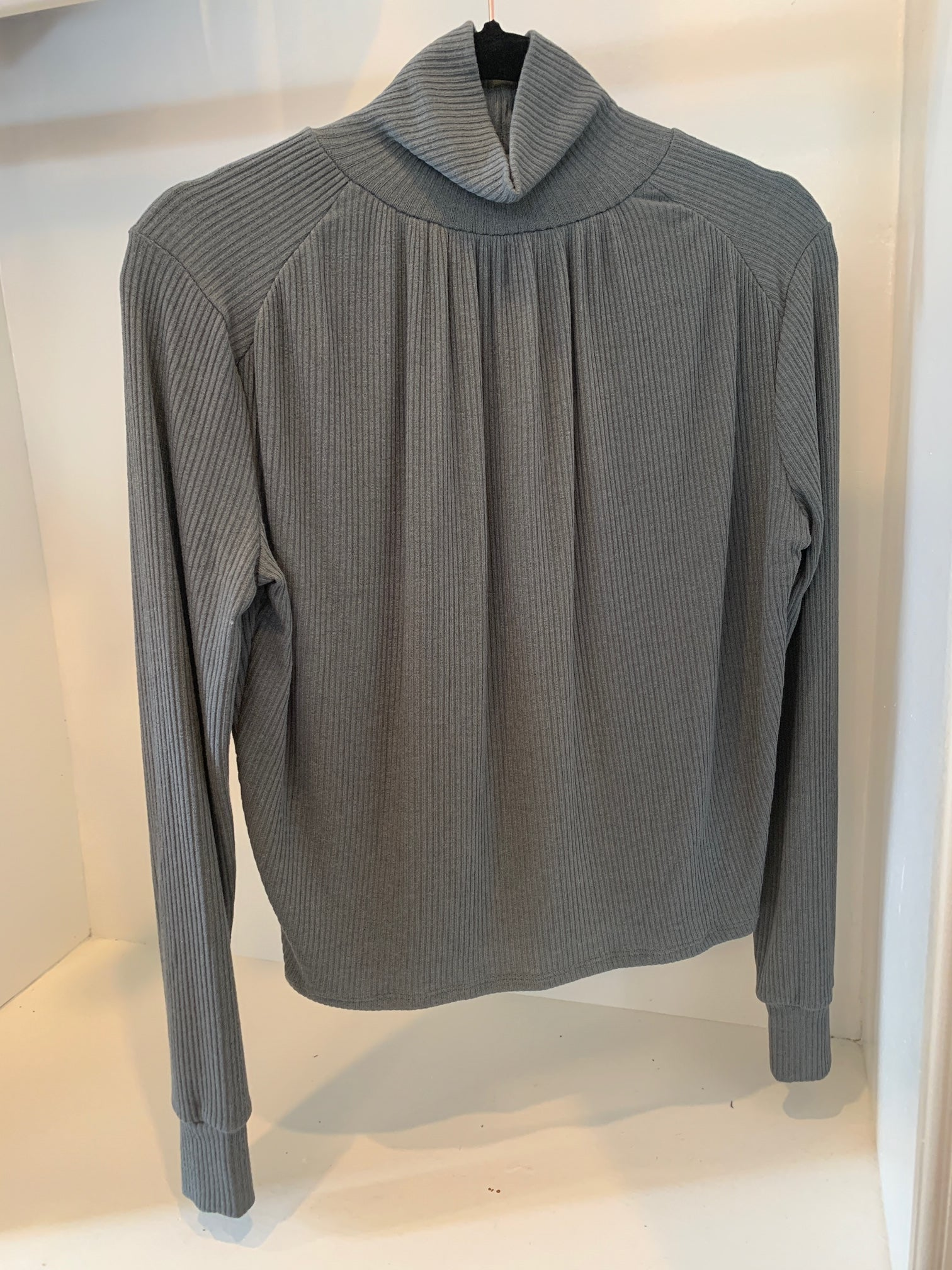 Project Social T Shirred Turtleneck