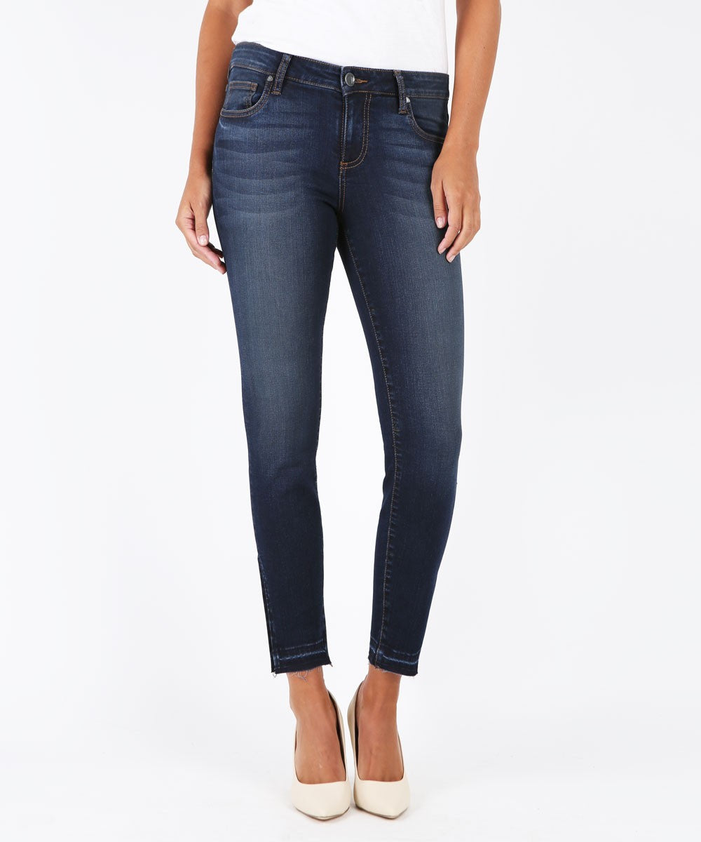 KUT Connie Ankle Skinny Side Slit Denim