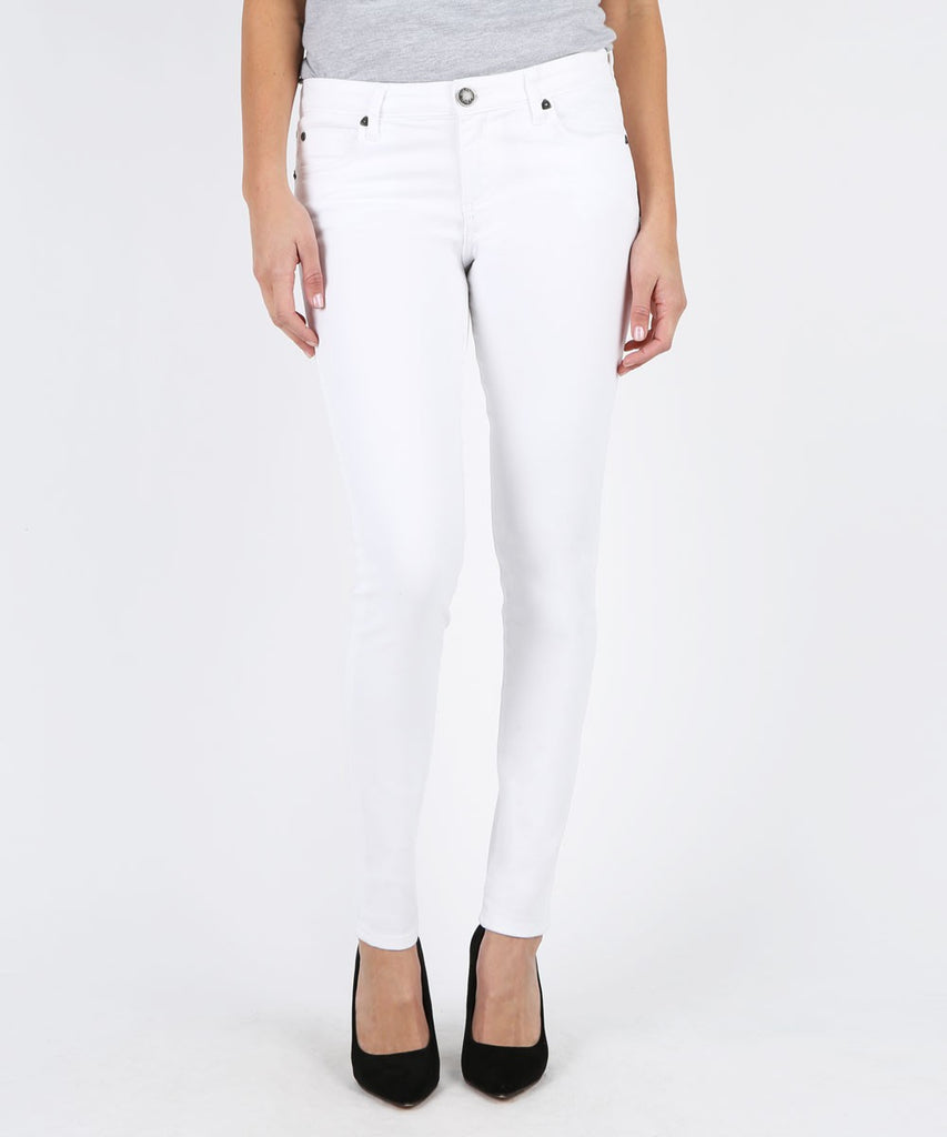 KUT Denim Mia Toothpick Skinny White (hide)