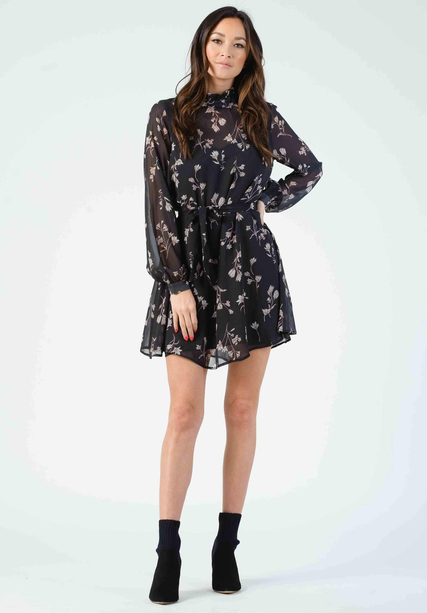 Lucca Armand Mock Neck Dress