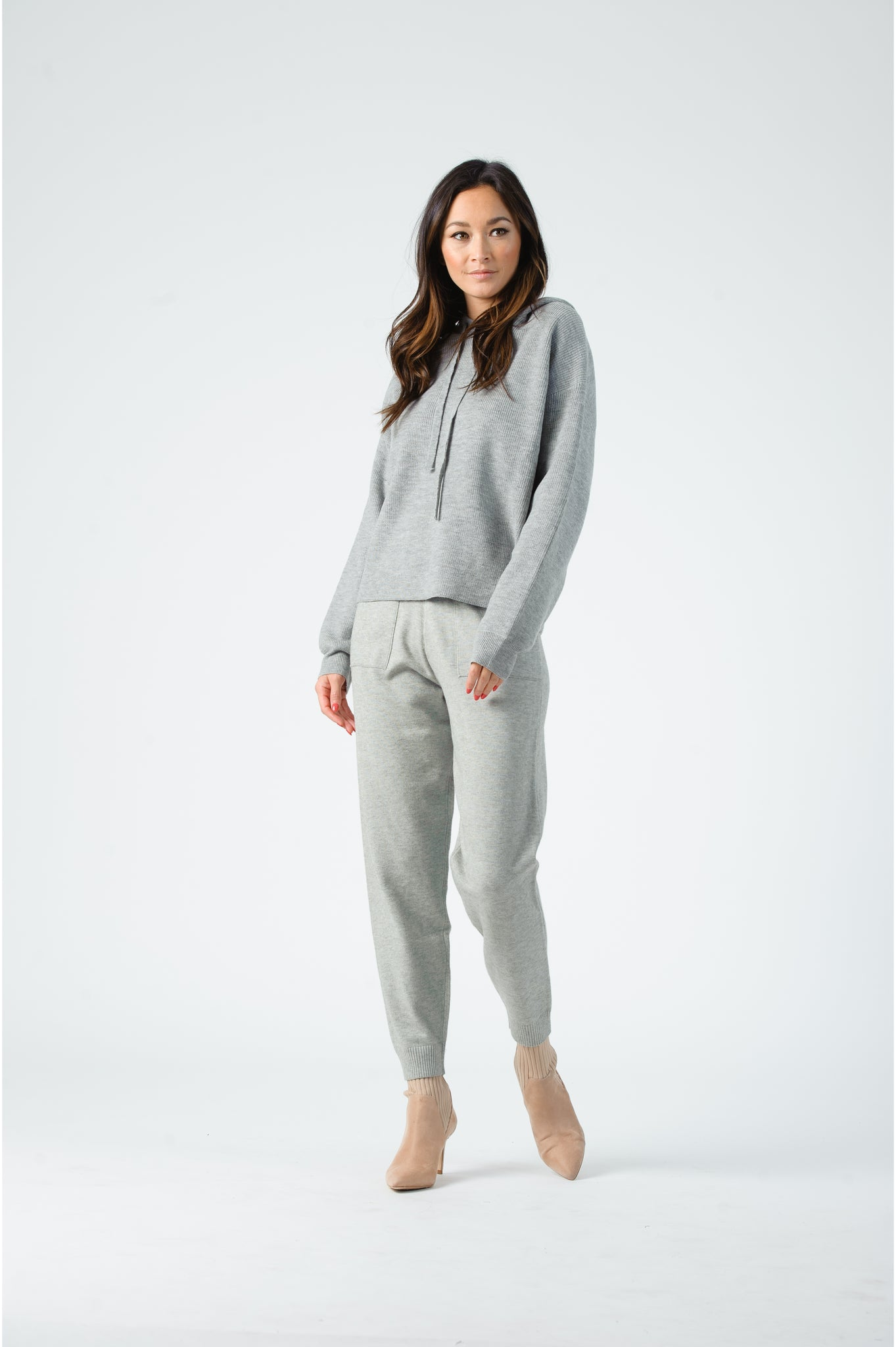 Lucca Grey Sweater Hoodie