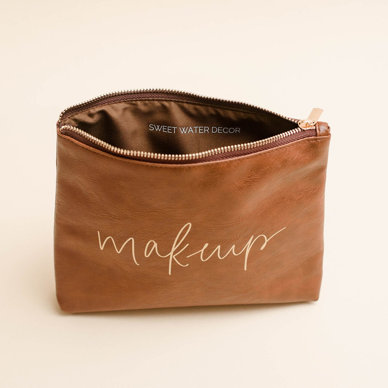 SWD Faux Leather Makeup Bag