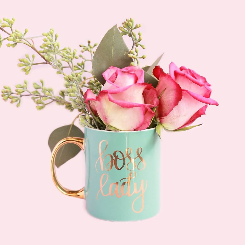 Mint & Gold Boss Lady Coffee Mug