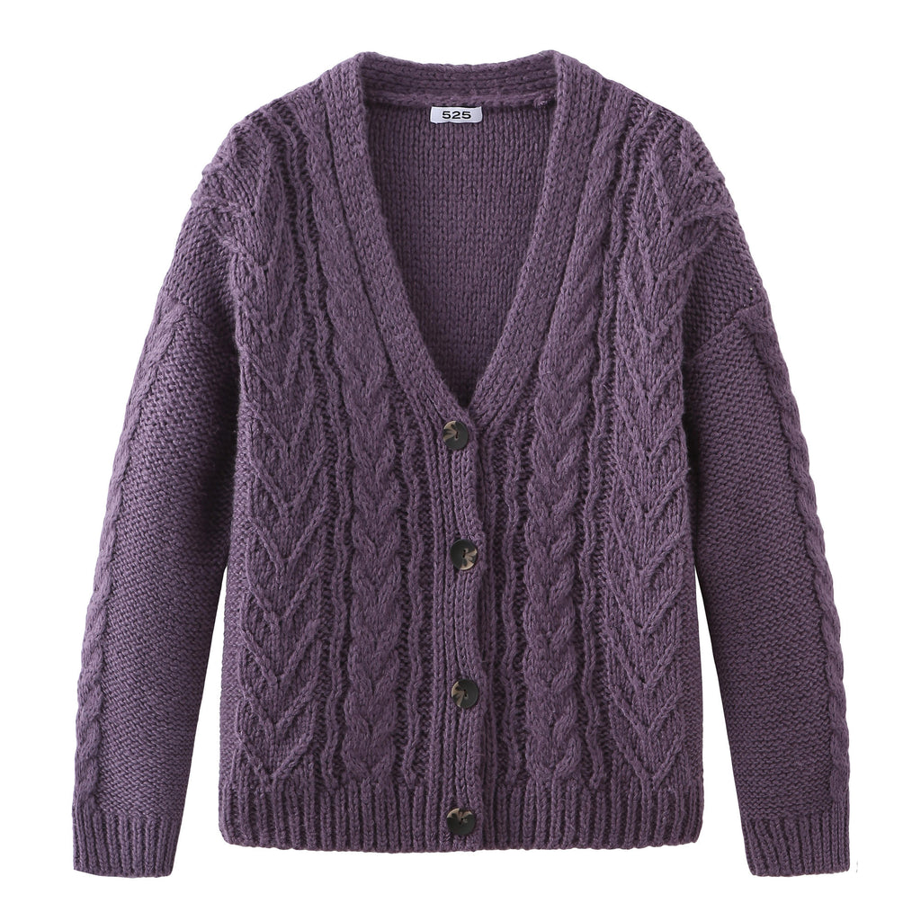 525 America Mixed Cable Cardigan