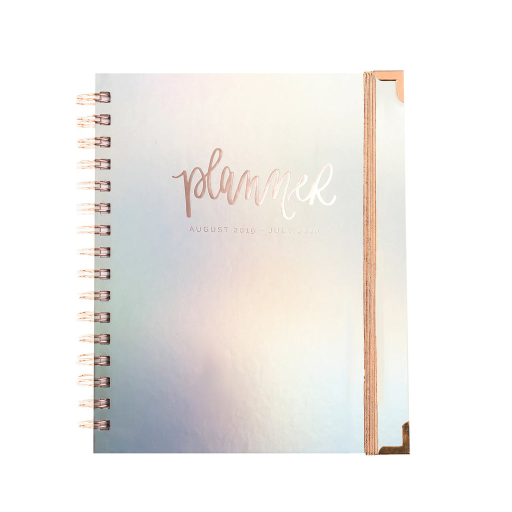 Iridescent Rose Gold Planner