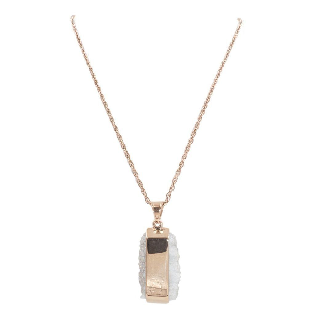 Kinsley Armelle Rose Gold Quartz Necklace