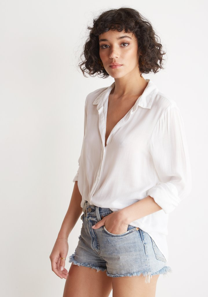 Bella Dahl Half Hidden Placket Button Down