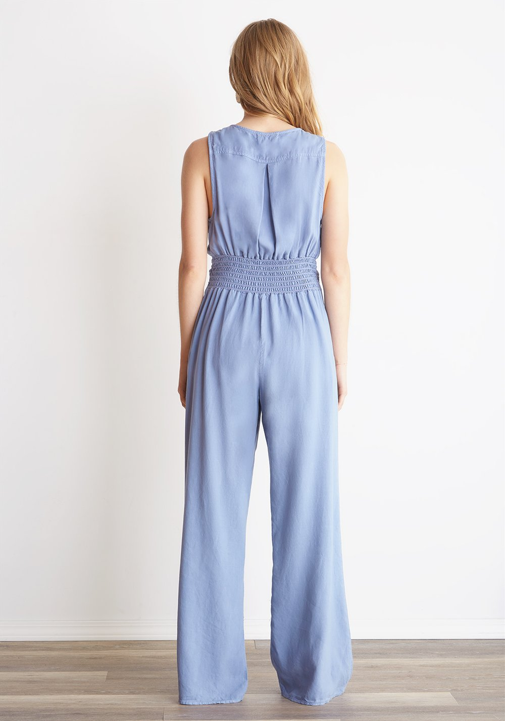 Bella Dahl Crossover Wide Leg Jumpsuit