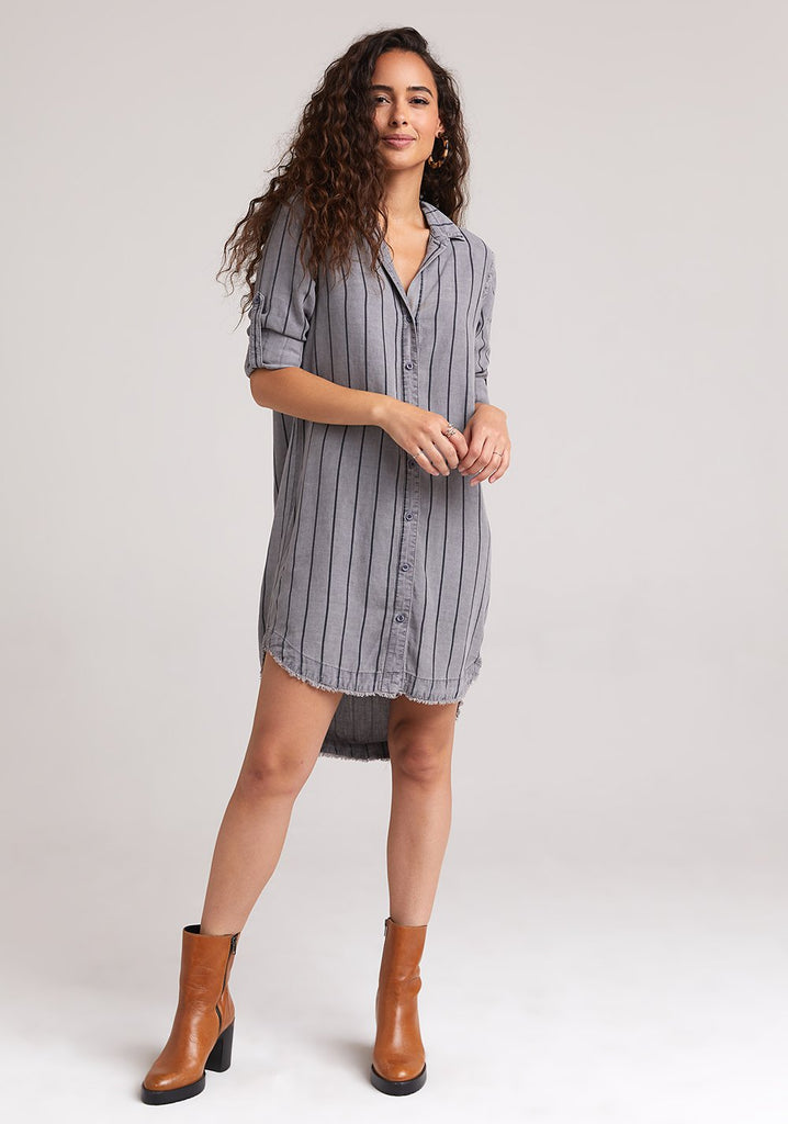 Bella Dahl Fray Hem Roll Tab Dress