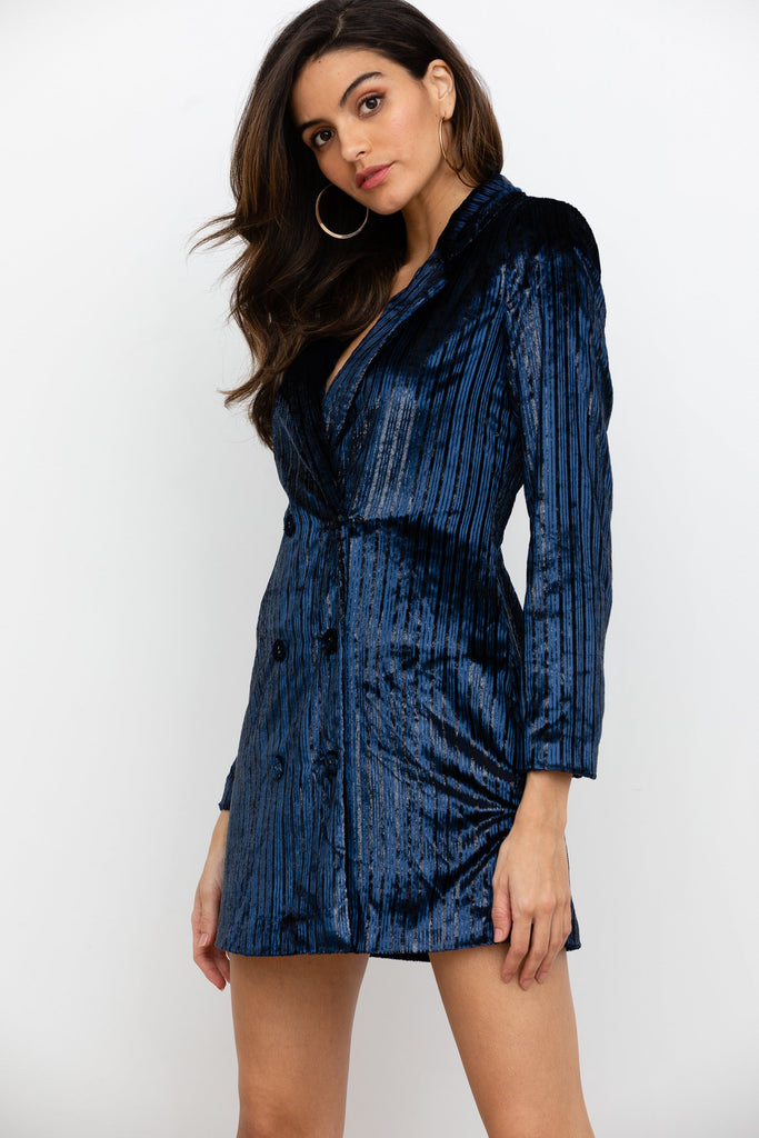 Yumi Kim Suit Up Velvet Dress