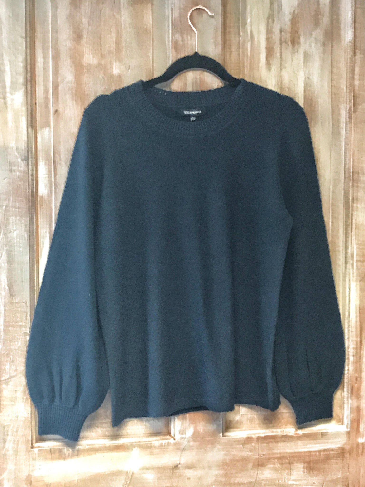 525 AMERICA Cotton Balloon Sleeve Sweater