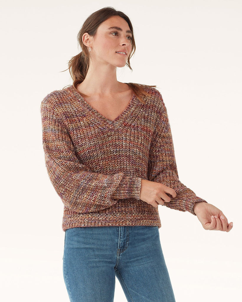 Splendid Briar Marled V-Neck Sweater (hide)
