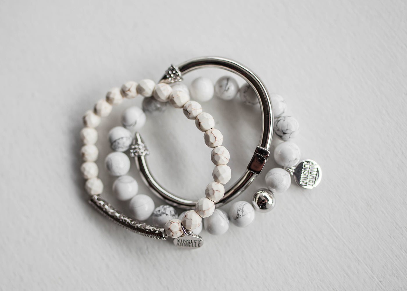 Glitz Collection- Silver Khaki Bracelet