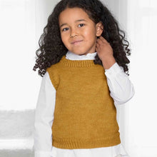 Strikk The Look: Christine-vest junior maisgul Katalog
