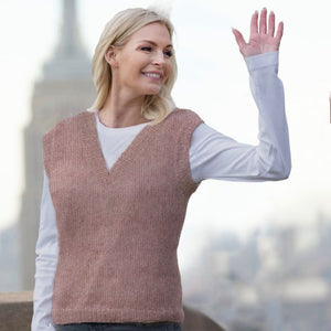 Strikk The look: Clara-vest brunrosa Katalog