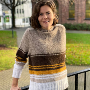 Strikk The Look: Frutti-genser brun Tmp