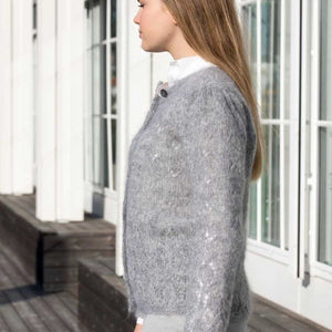 Strikk The Look: Lace-jakke Grå Katalog