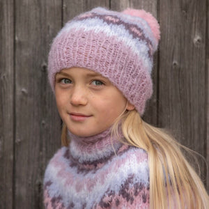 Strikk The Look: Nova-genser barn lys rosa Maya Katalog