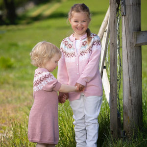 Strikk The Look: Nova-jakke barn rosa Tmp