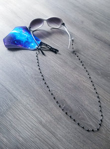 Black Crystal Mask Chain