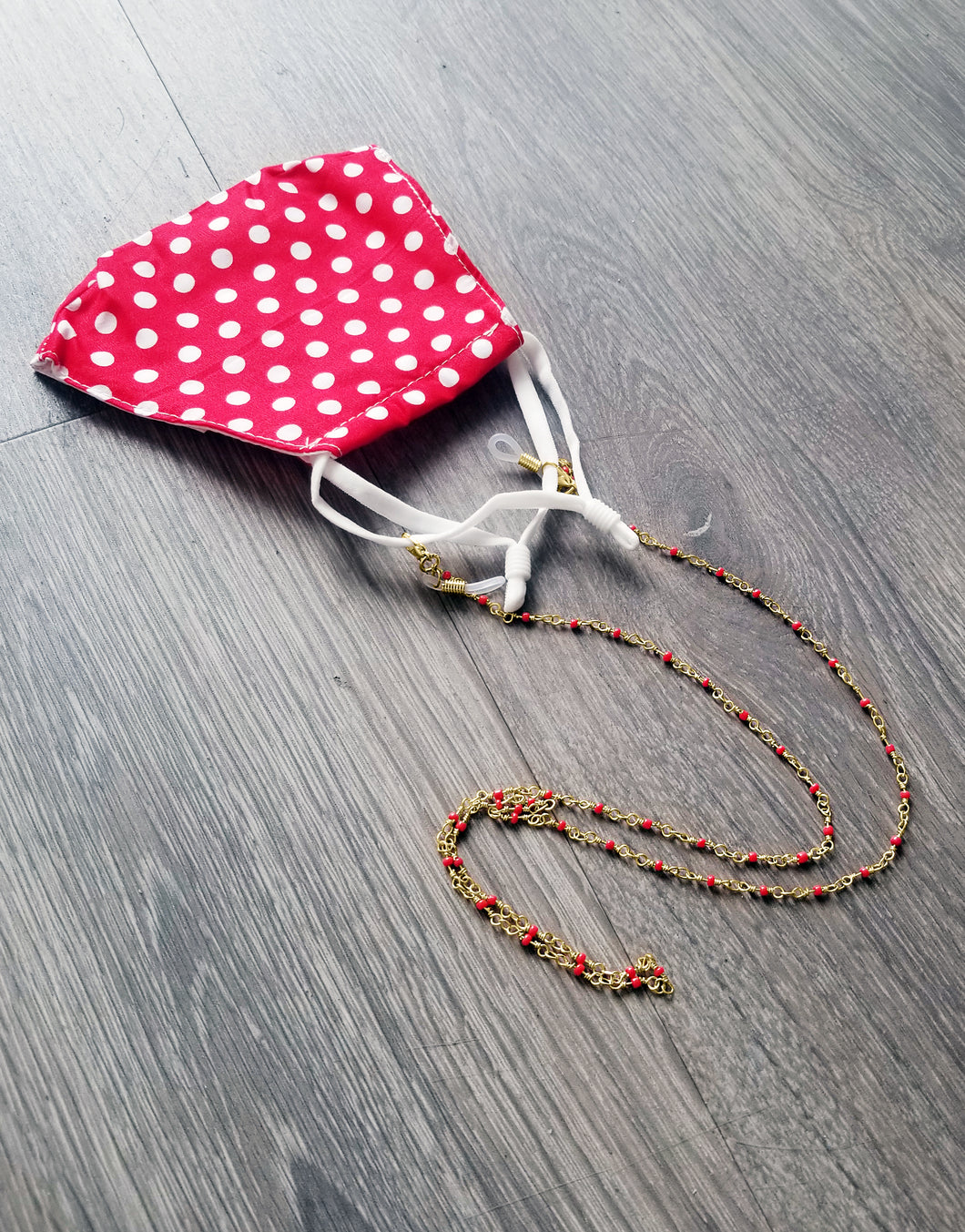 Red Beaded Mask Chain
