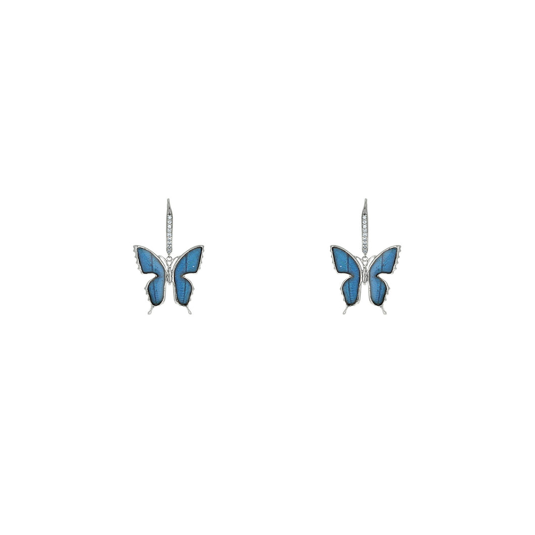 Blue Morpho Buttefly Earrings