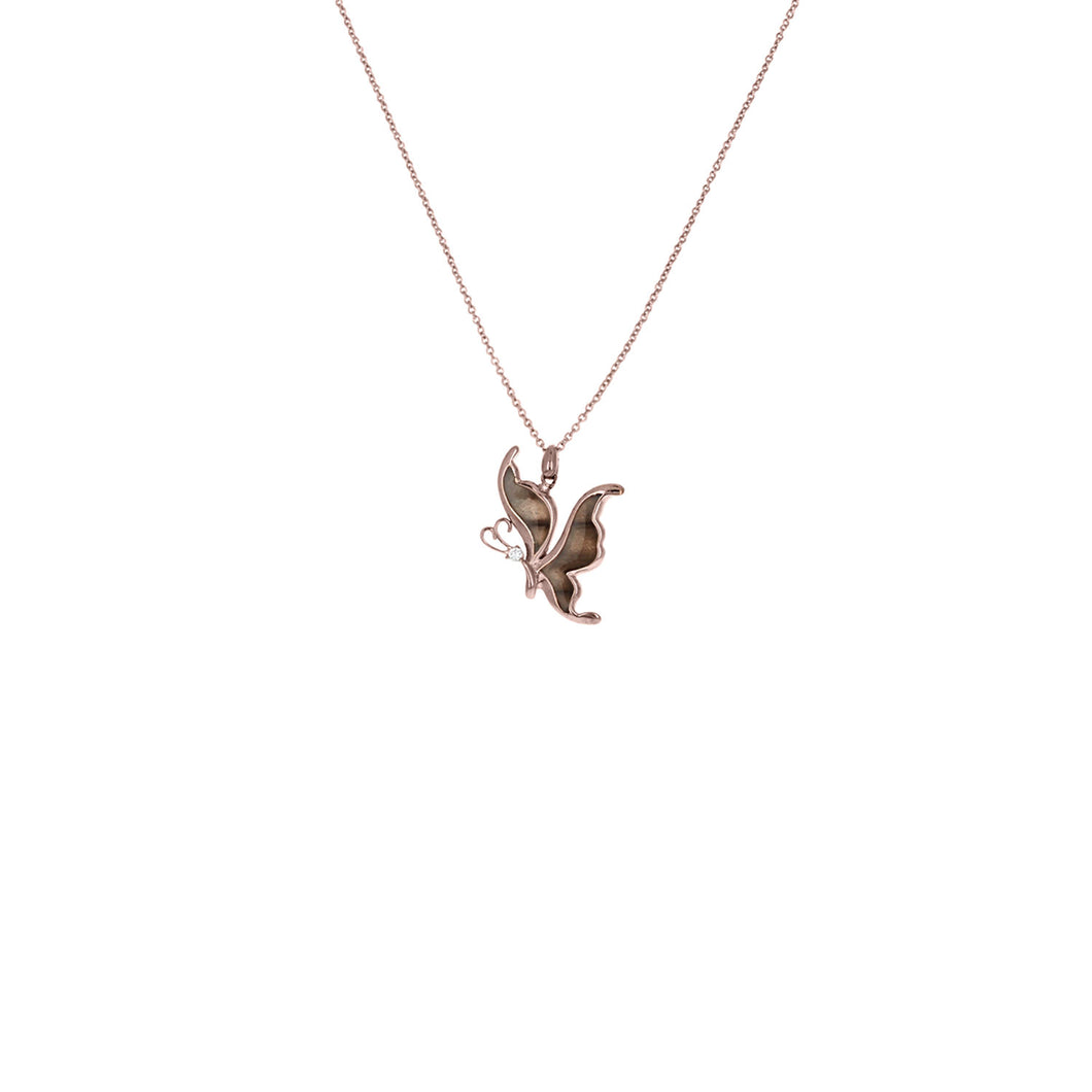 Flying Chocolate Tiger Necklace
