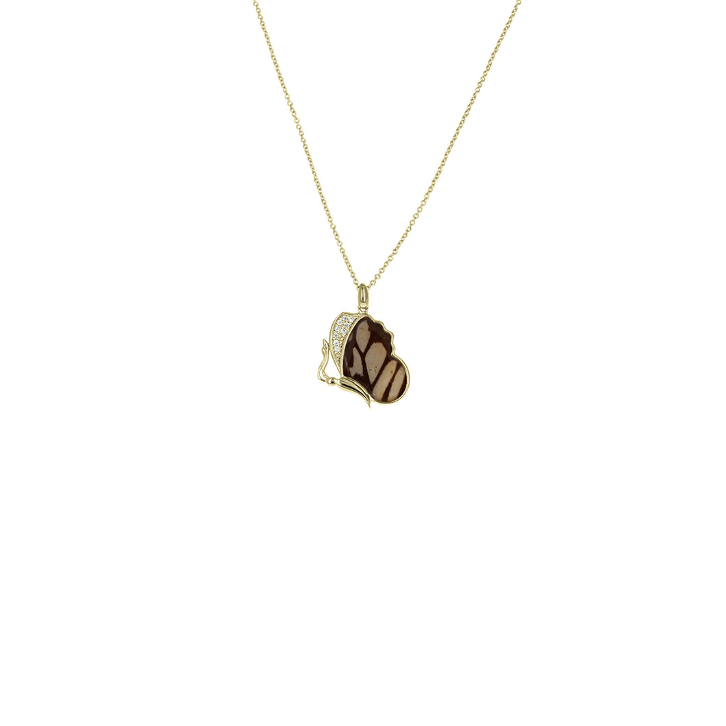 Resting Chocolate Tiger Necklace