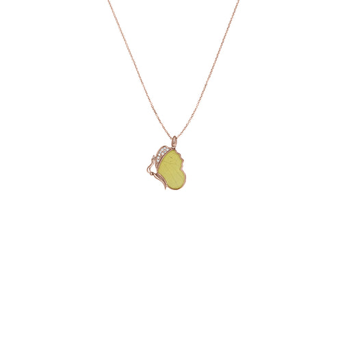 Resting Cloudless Sulphur Necklace