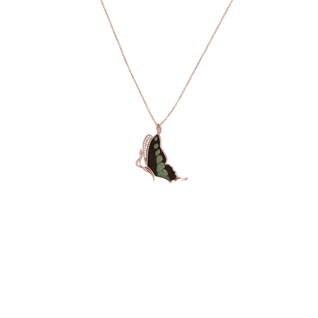 Sweeping Sunset Moth Pendant