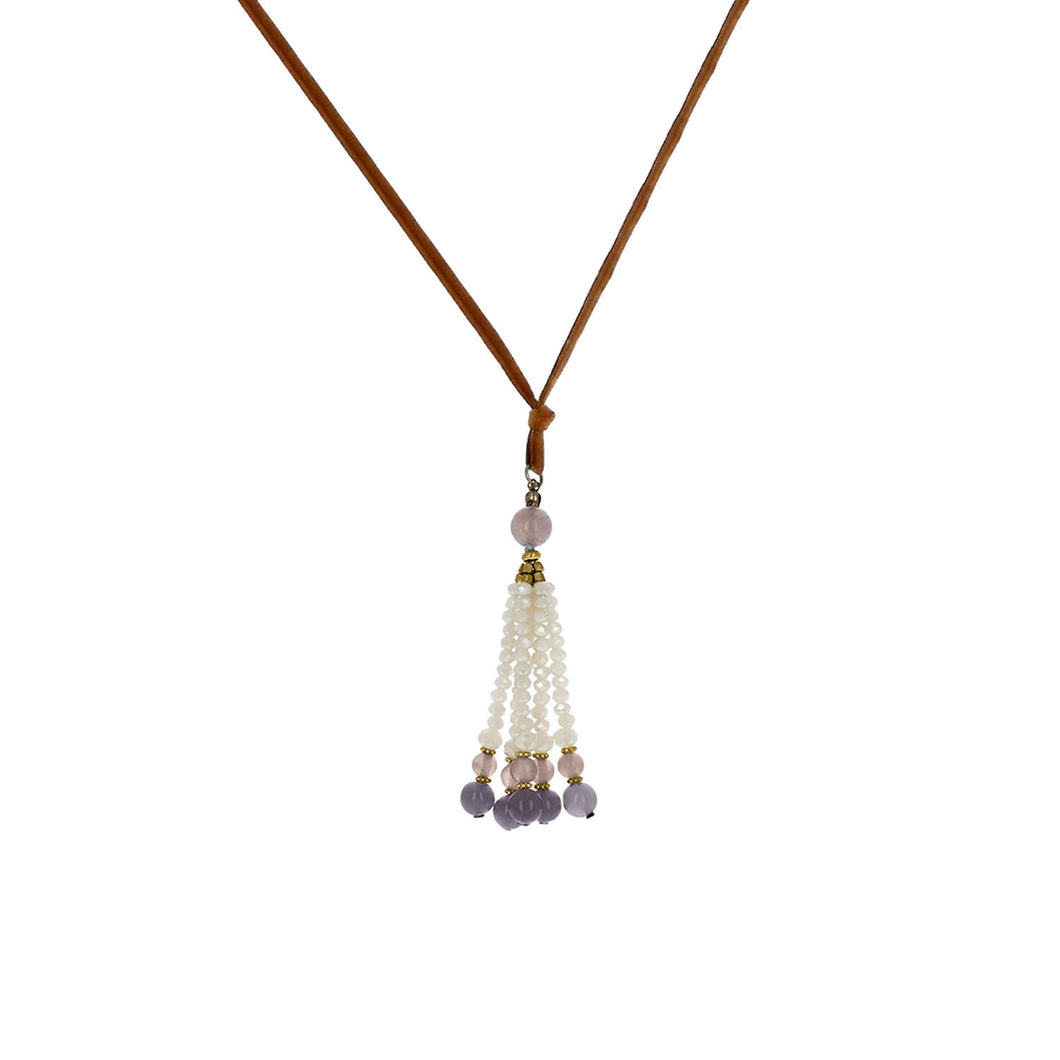 Kit Crystal Tassel Necklace