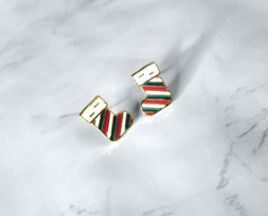 Striped Stocking Studs