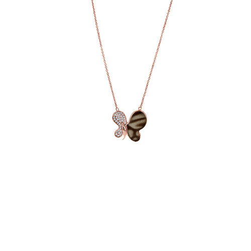 The Chocolate Tiger Half Butterfly Pendant