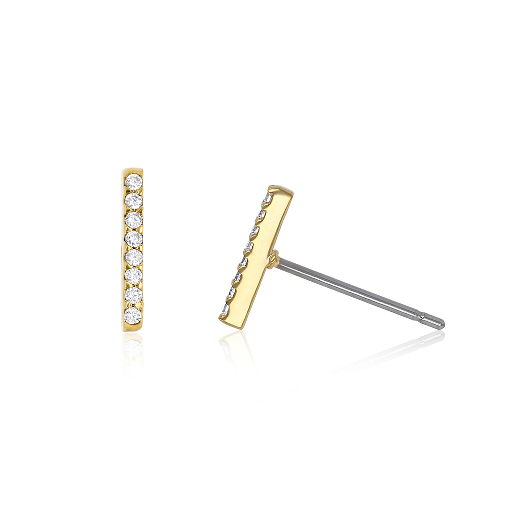 Crystal Bar Studs