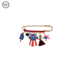 Patriotic Safety Pin