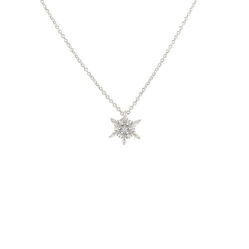 Snow Crystal Pendant Necklace