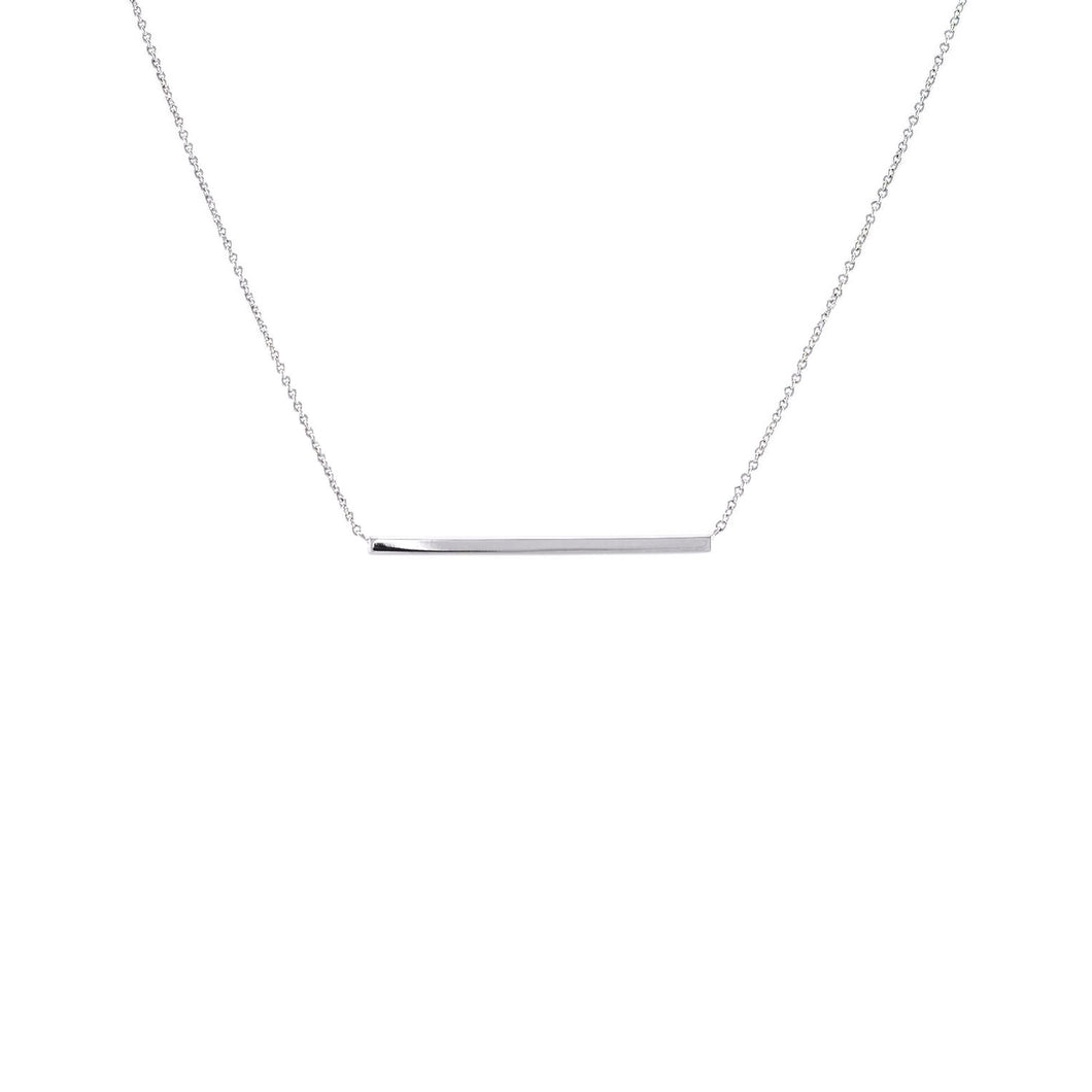 Simple Bar Pendant Necklace