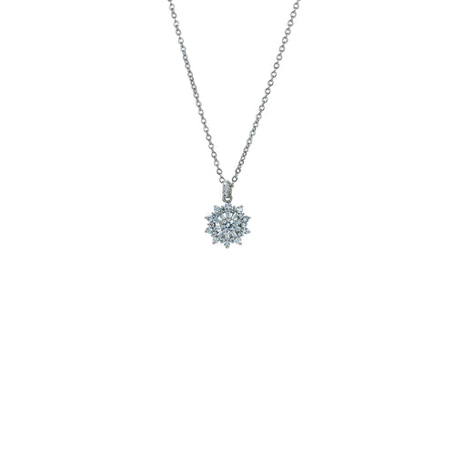 Snowflake Cluster Necklace