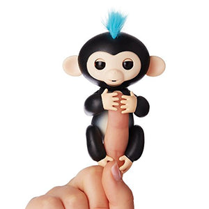 Interactive Baby Monkey - Pet Robots Wrap Around Your Finger & React to Sound, Motion and Touch (6 Colors)