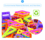 Premium Magnetic Building Shapes - Children Can Use Imagination to Create Amazing Toys (110-184pcs)