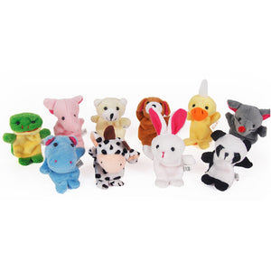 Children's Animal Finger Puppets - (10PCS)