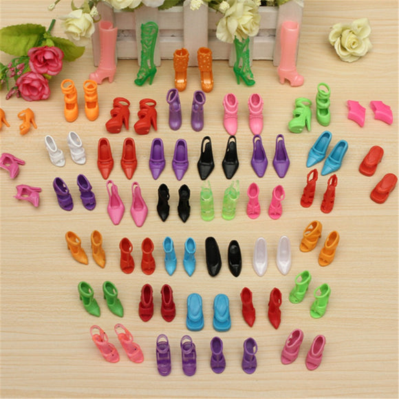 The Ultimate Barbie Doll Shoe Collection! 40 Pairs of Fashionable Doll Shoes (80 pcs)